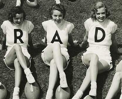 rad vintage cheerleader
