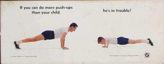 pushups vintage poster