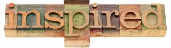 stay inspired vintage letterpress