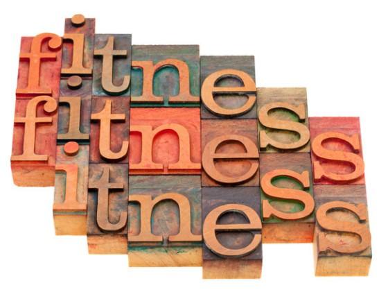 fitness vintage letterpress