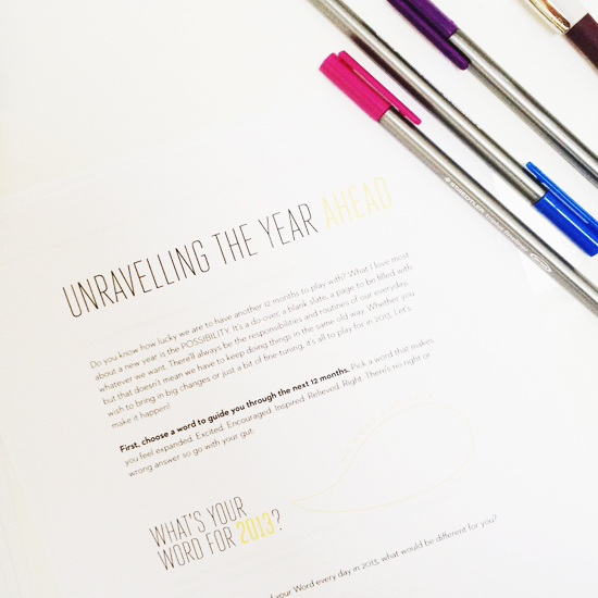 Unravelling The Year Ahead 2013 Susannah Conway