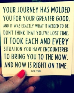 Now is right on time.