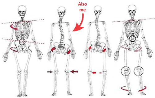 Spine alignment {Piloting Paper Airplanes}