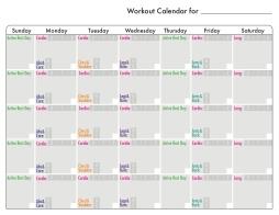 Workout calendar {Piloting Paper Airplanes}