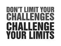 Don't limit your challenges. Challenge your limits.