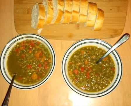 Lentil soup {Piloting Paper Airplanes}