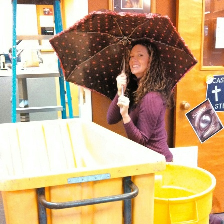 Casey Voight office rain {Piloting Paper Airplanes}