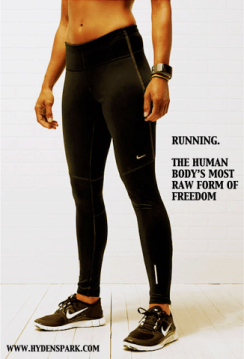 Running. The human body's most raw form of freedom. {Piloting Paper Airplanes}